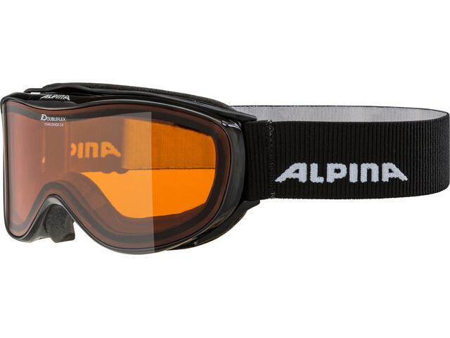 Alpina Challenge 2.0 Doubleflex S2 Gogle, black transparent